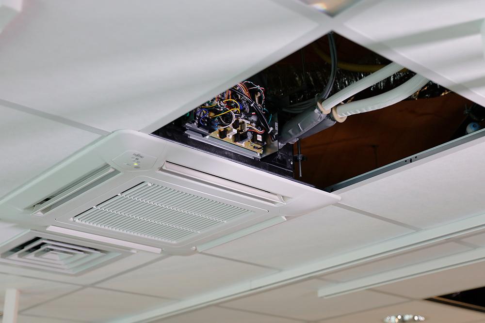 chauffage, système de ventilation, climatisation au plafond, faux plafond