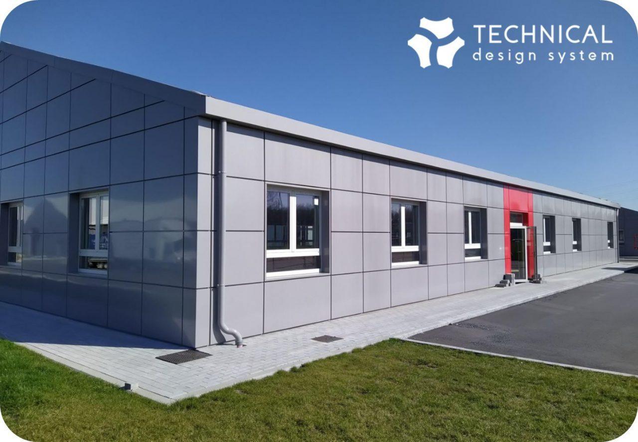 cassettes métalliques en aluminium peintes pour le recouvrement de façade par tds (technical design system)